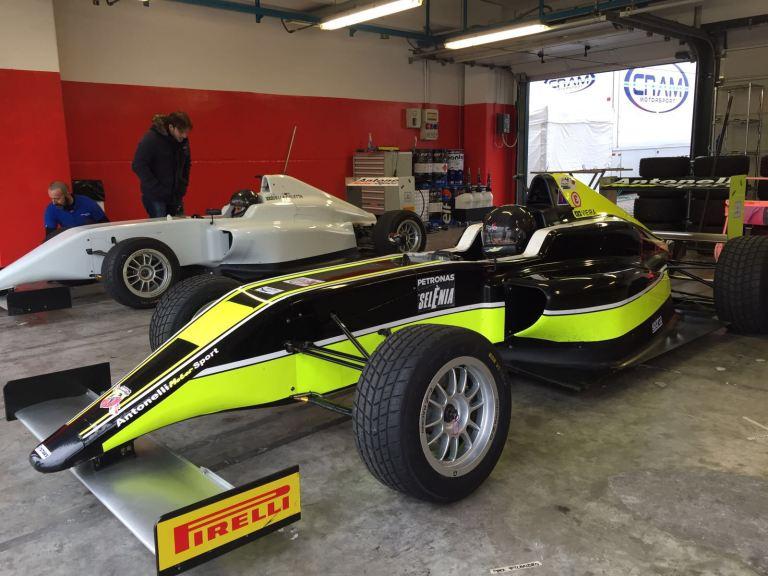 João Vieira esteve de volta ao carro da Antonelli na F4 Italiana
