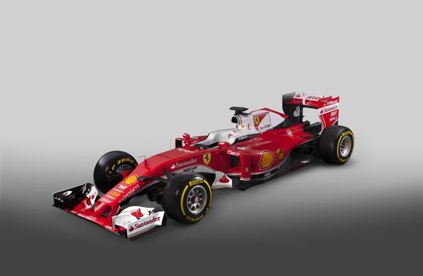 A nova Ferrari SF16-H da F1 2016